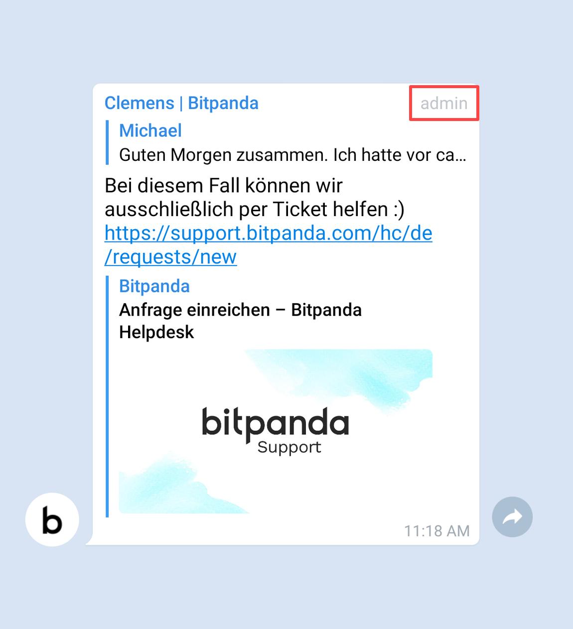 Bitpanda Telegram Gruppe Bitpanda Helpdesk